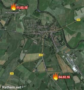 Feuer in der Samtgemeinde Rethem